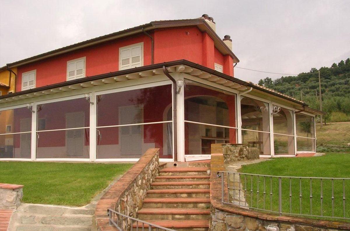 Paravento In Legno Per Esterni chiusure per esterni: verande, vetrate frangivento e